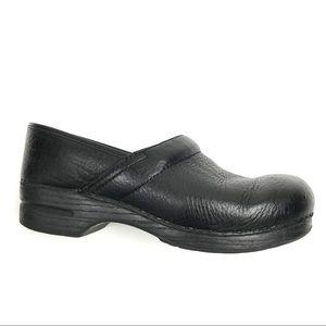 Dansko Black Pebbled Leather Clogs sz 44=10.5-11